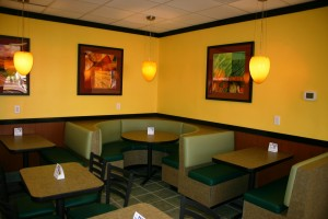 New tables, chairs, and booths were part of this major remodel project