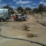 concrete pour in caisson foundation