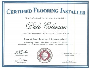 Certified Carpet Install