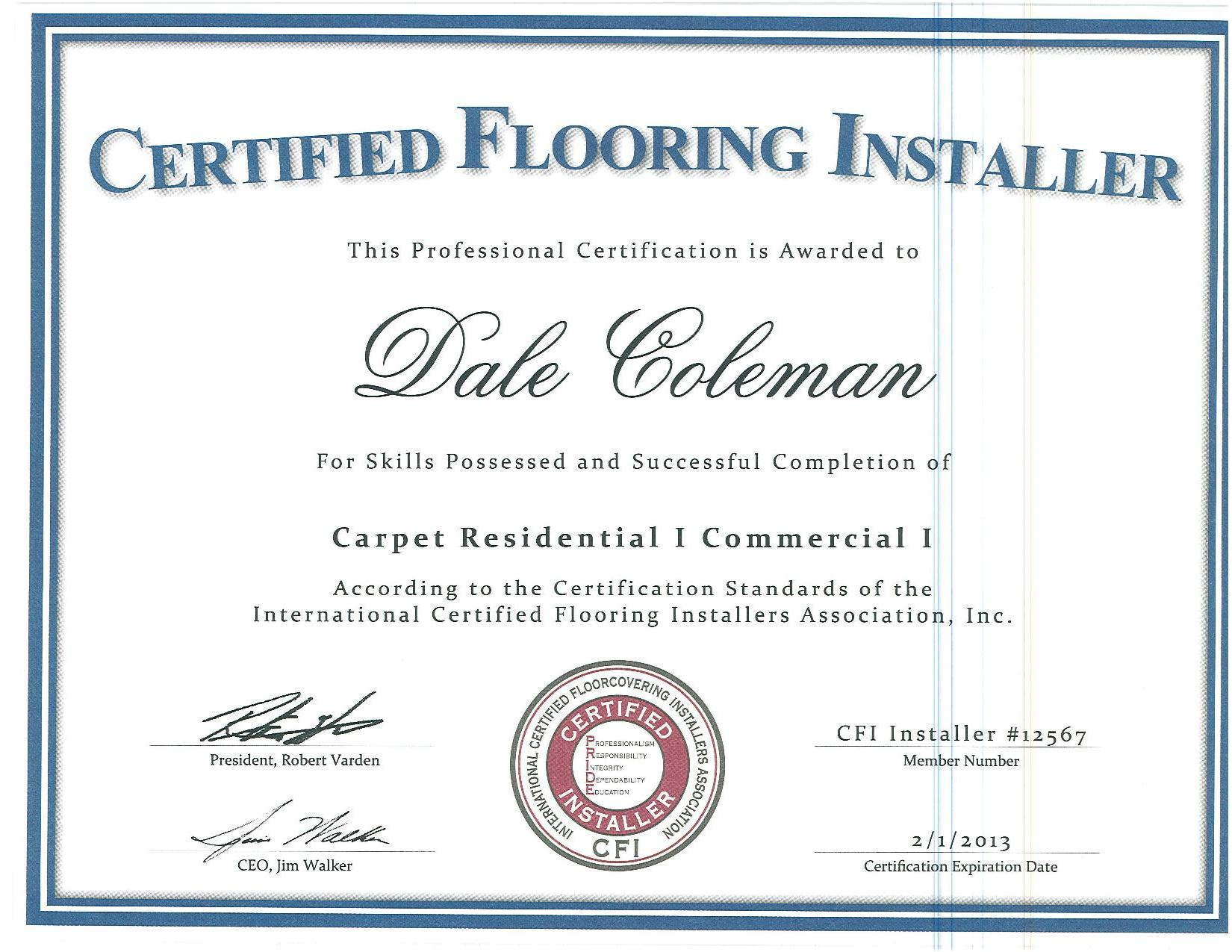Cfi Certified Carpet Installers Lets See Carpet New Design