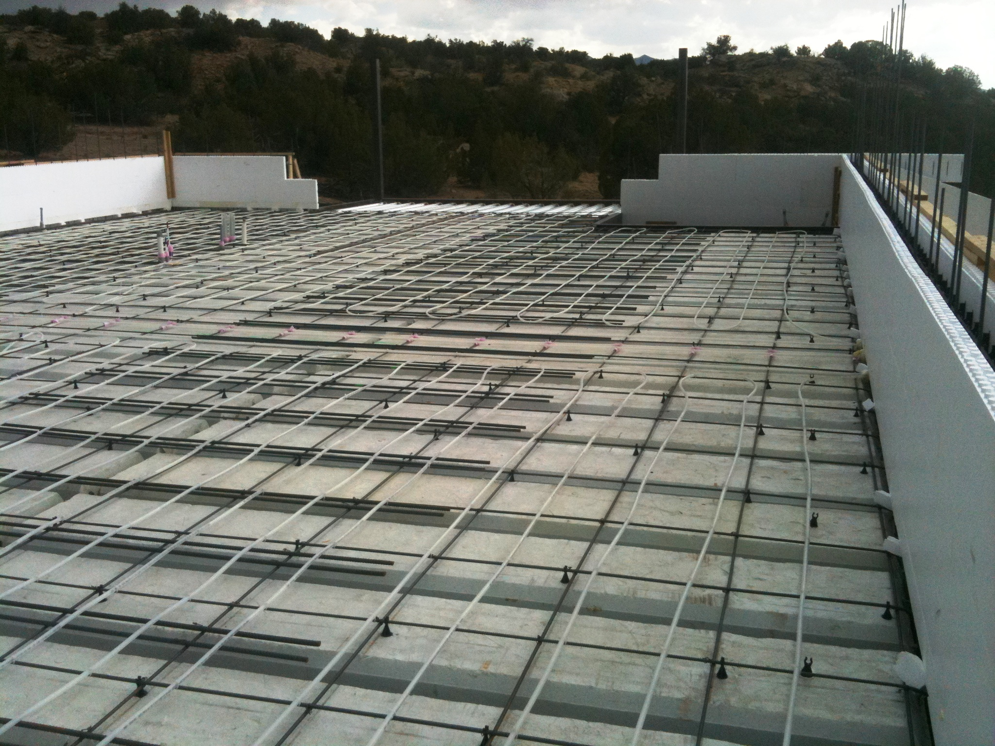 Image gallery icf roof for Icf concrete roof